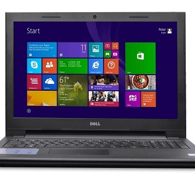laptop reconstruida core i3 500gb disco duro 6gb ram pantalla de 15 pulgadas windows 8 frontal
