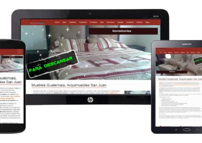 paginas web en guatemala - arquimuebles san juan