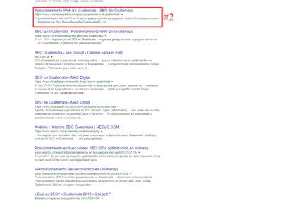optimizacion para buscadores en guatemala #2