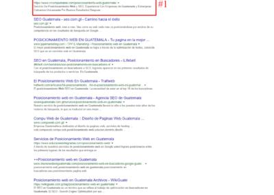 posicionamiento web en guatemala #1