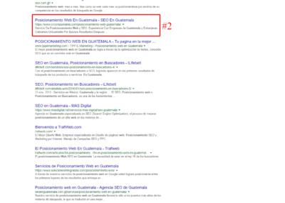 posicionamiento web guatemala #2